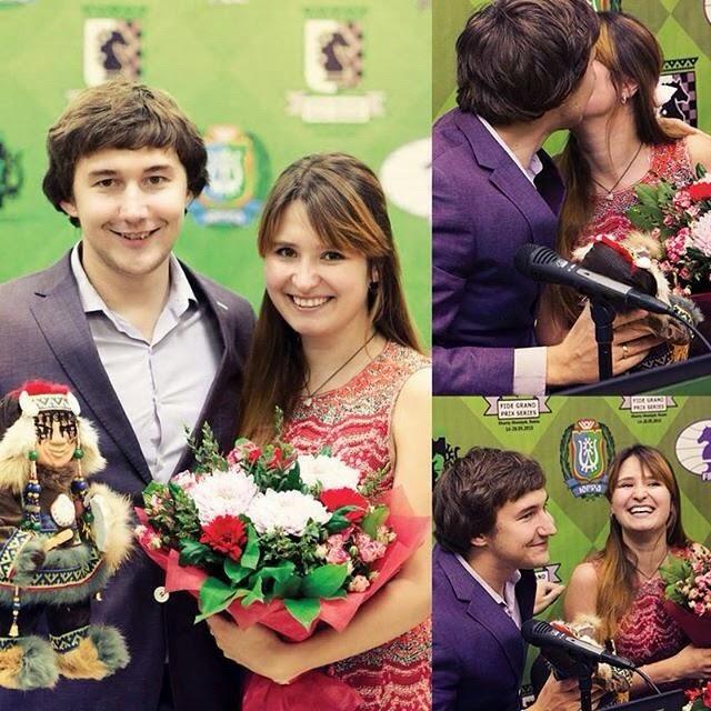 Sergey y Galia en su primer aniversario de boda.