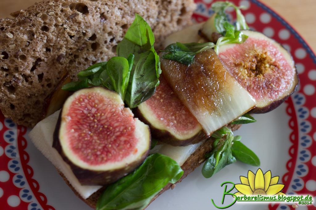 Barbarelismus: Fig Goat Cheese Basil Balsamic Onion Sandwich