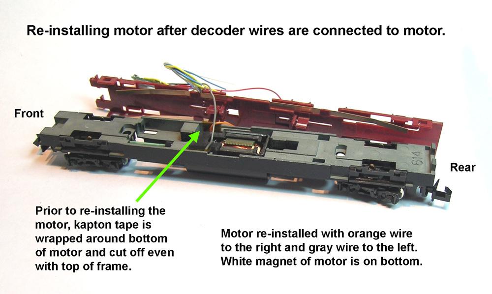 N Scale DCC Decoder Installs TCS Z2 in a Kato JR 117 series motor car – Kato Engine Diagram