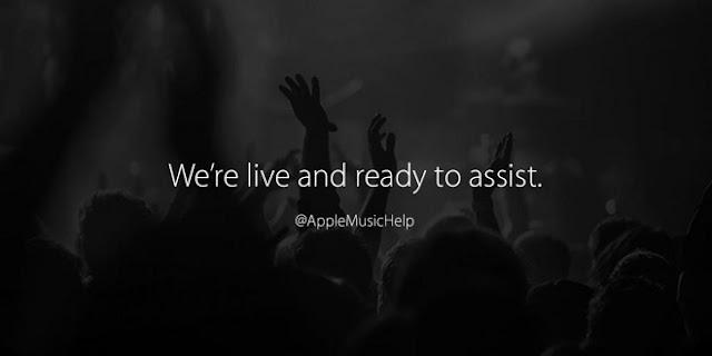 Apple cria conta no Twitter para suporte ao Apple Música