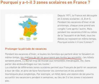 Pourquoi y a-t-il 3 zones scolaires en France
