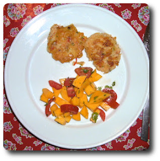 Crab Cakes med Mangosalat