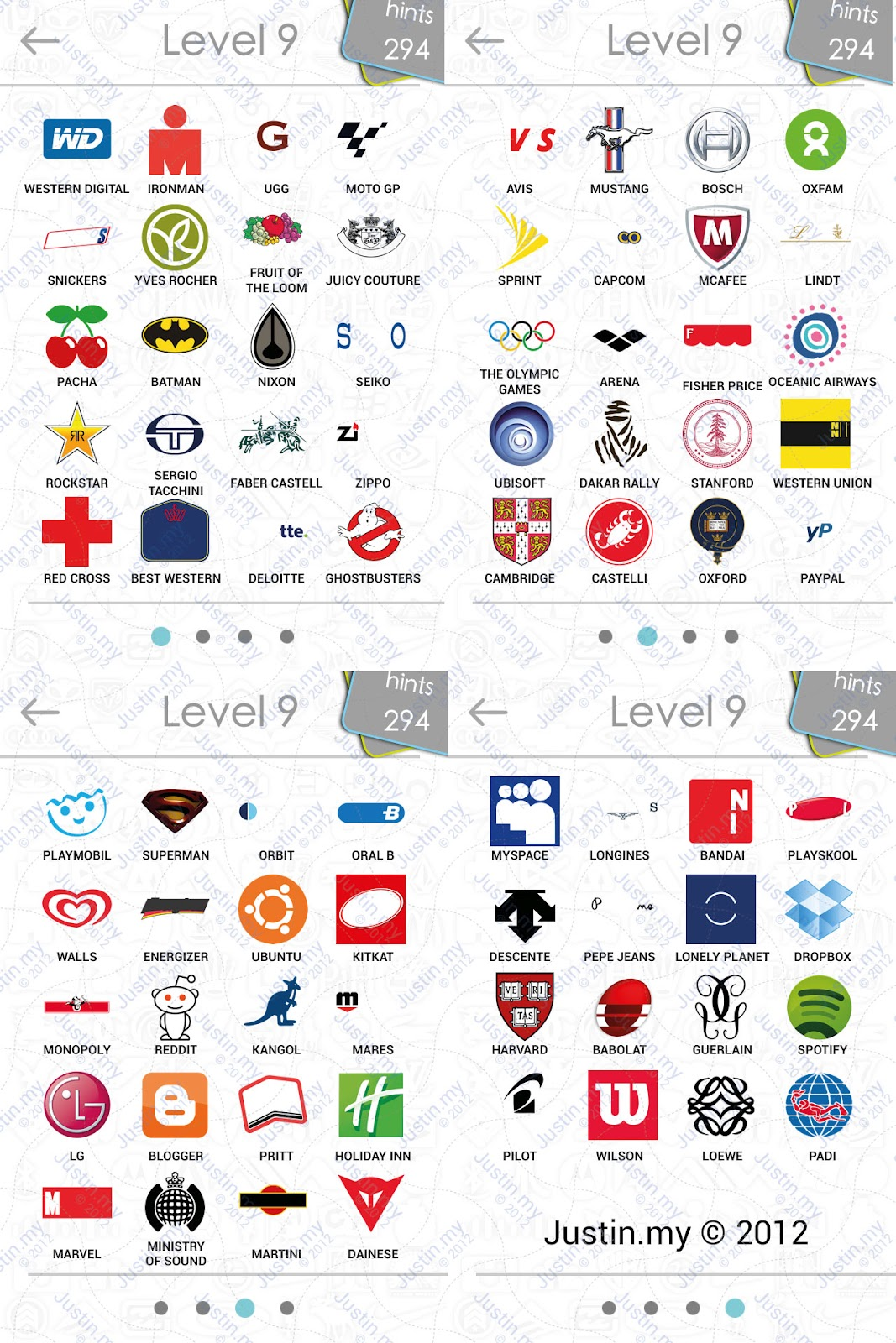 Logo Quiz Answers for Level 9