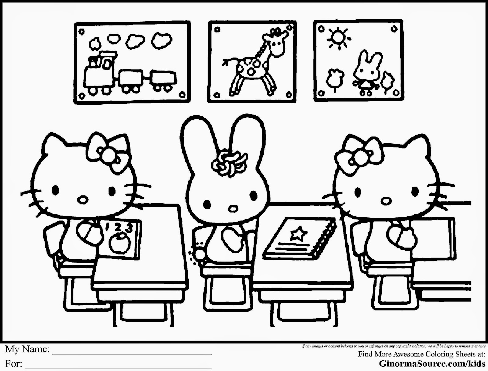 free kids school coloring pages - photo#32