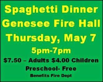 5-7 Spaghetti Dinner, Genesee, PA