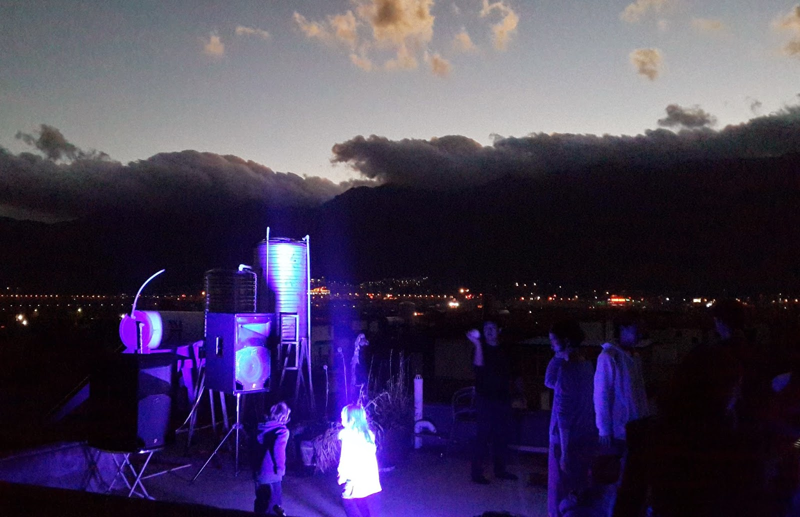 rooftop party at my house in dali