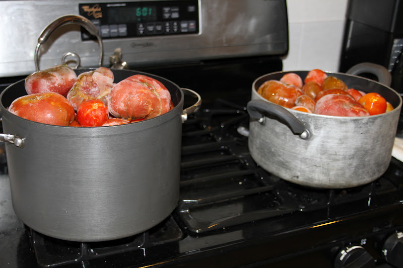 how to make spaghetti sauce from frozen tomatoes
