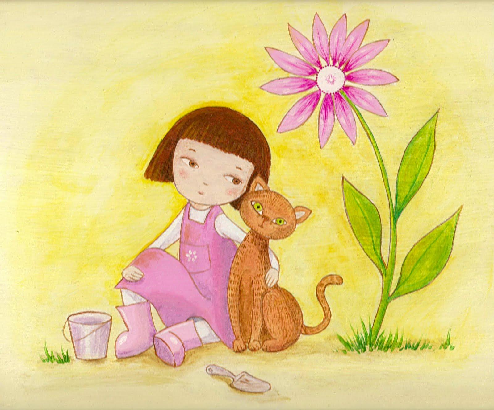 Kedibu murales y objetos decorativos cuadro infantil for Murales infantiles nina