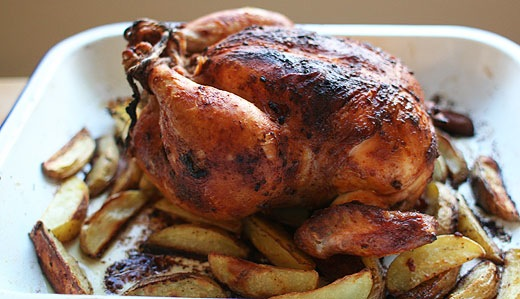 Pimenton Roast Chickens With Crispy Potatoes Recipes — Dishmaps