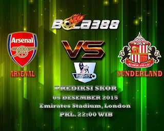 Agen Bola Terpercaya : Prediksi Skor Arsenal Vs Sunderland AFC 05 Desember 2015