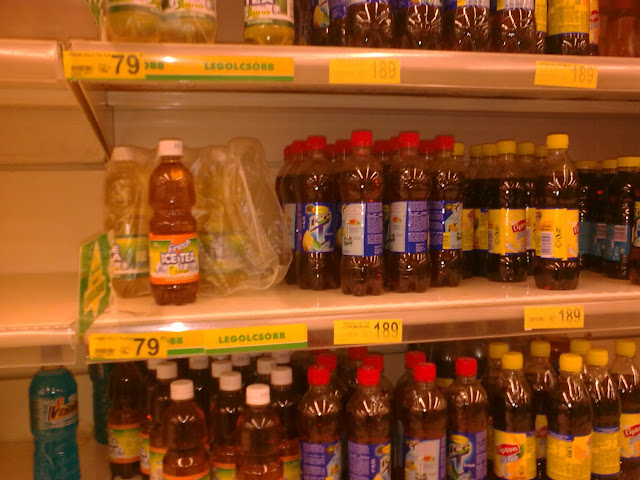 Auchan, Óbuda, hipermarket, Budapest, Szentendrei út, III. kerület, vicces, Fresh Ice Tea, fake product, Hungary, Lipton Ice tea