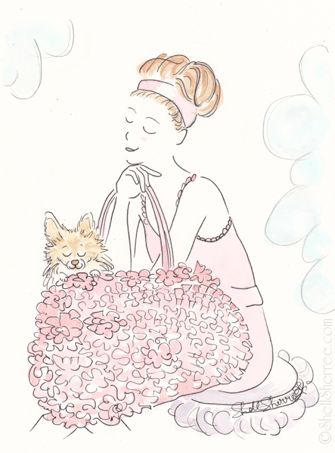 Fashion and fluffballs illustration : Have Ball-Pup, Will Play © Shell-Sherree