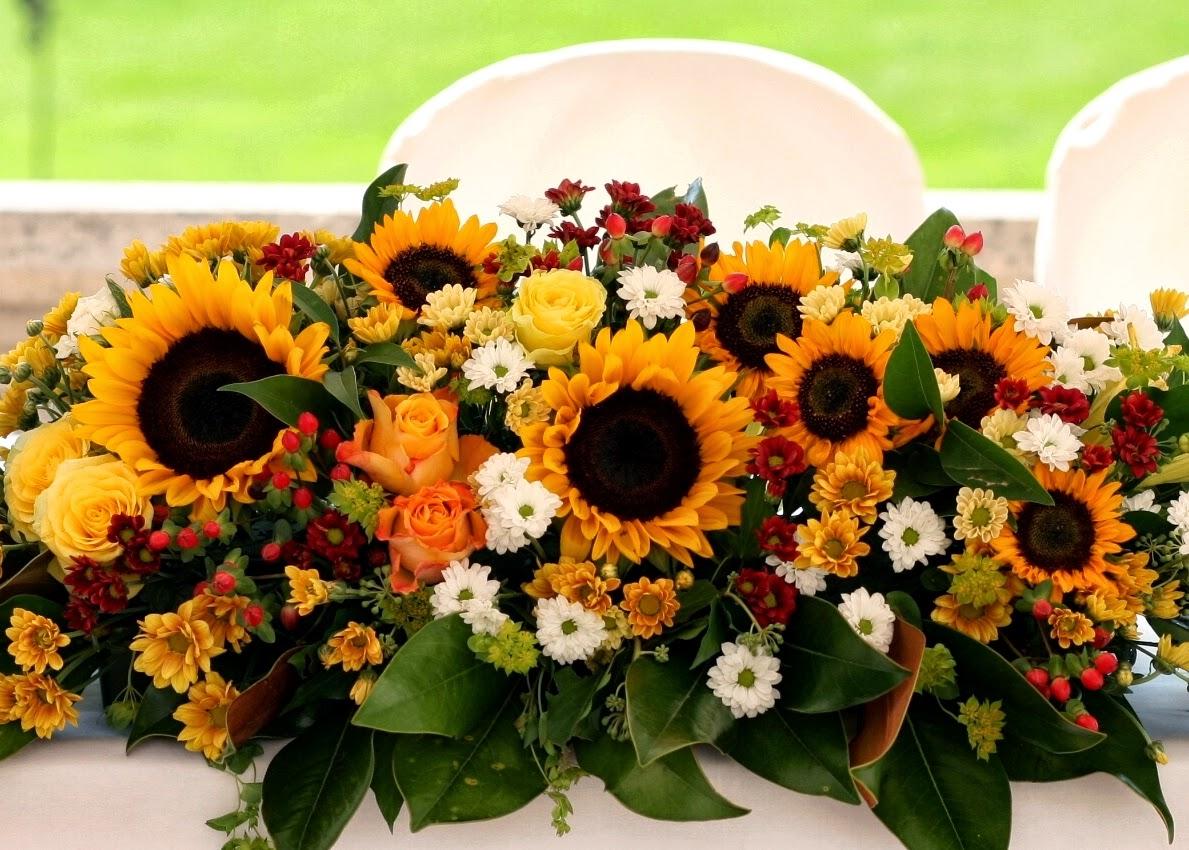 Centrotavola Con Girasoli Matrimonio : Green grass un matrimonio estivo girasoli e sorrisi