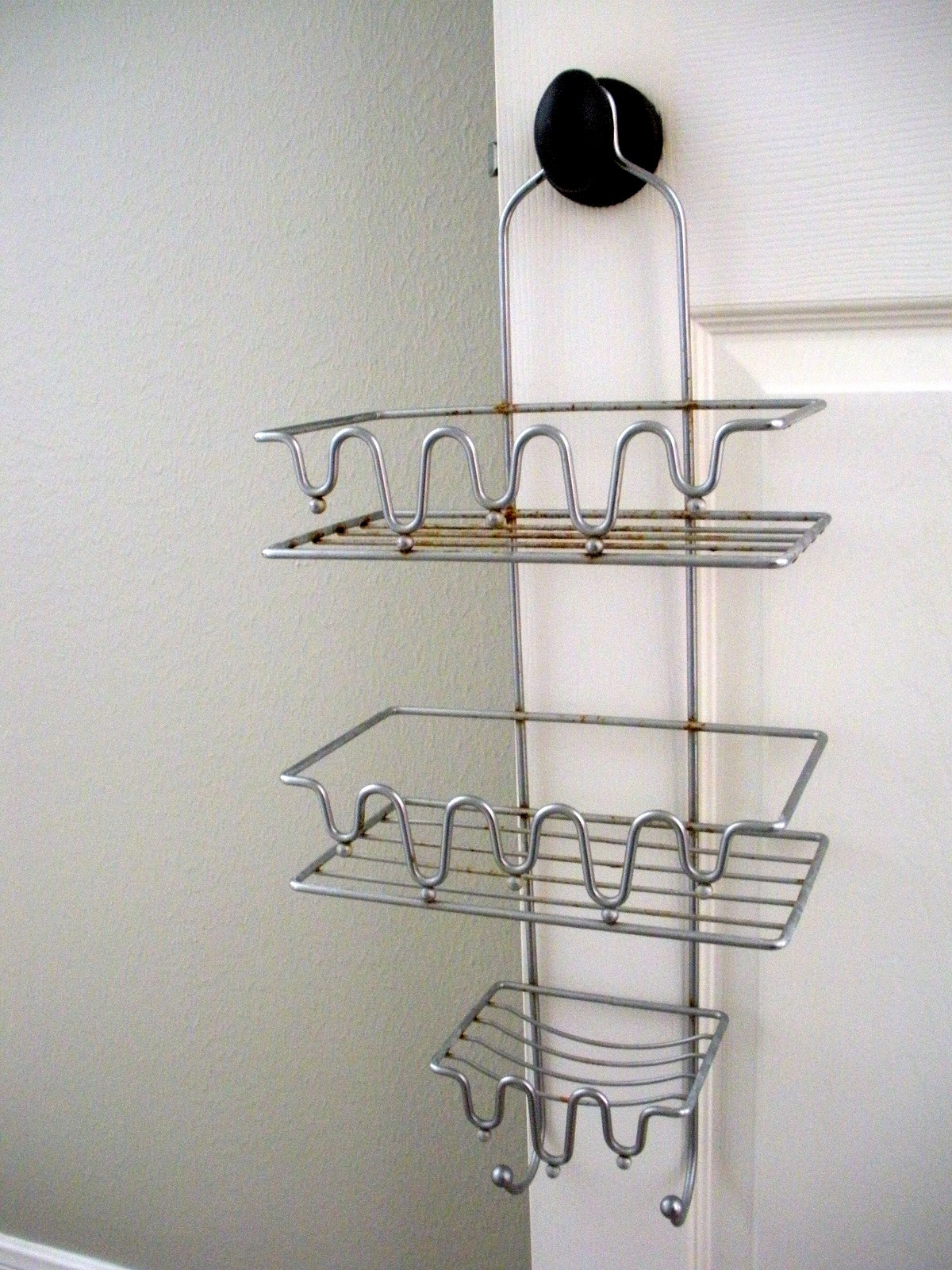 Lots of Lemons: Teal Shower Caddy Repurpose