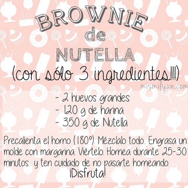 brownie nutella receta facil