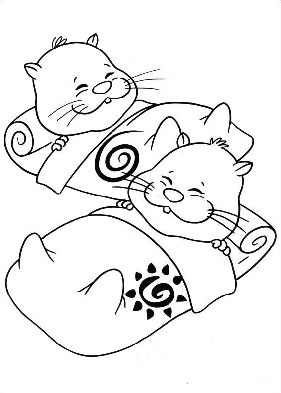 Fun Coloring Pages: Zhu Zhu Pets Coloring Pages