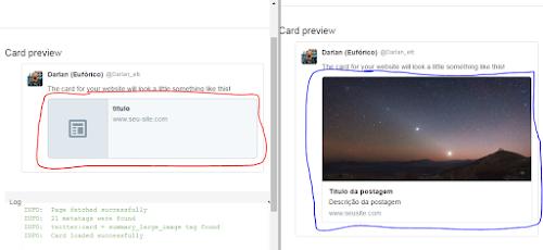 Como inserir o Twitter Card no Blogger