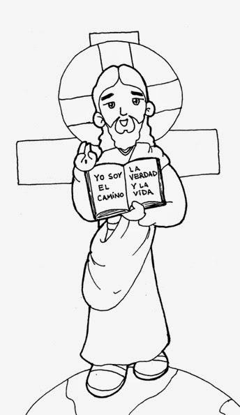 Colección de Gifs ®: JESÚS MAESTRO PARA COLOREAR