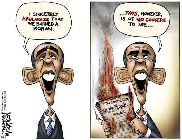 Obama has burned the Constitution