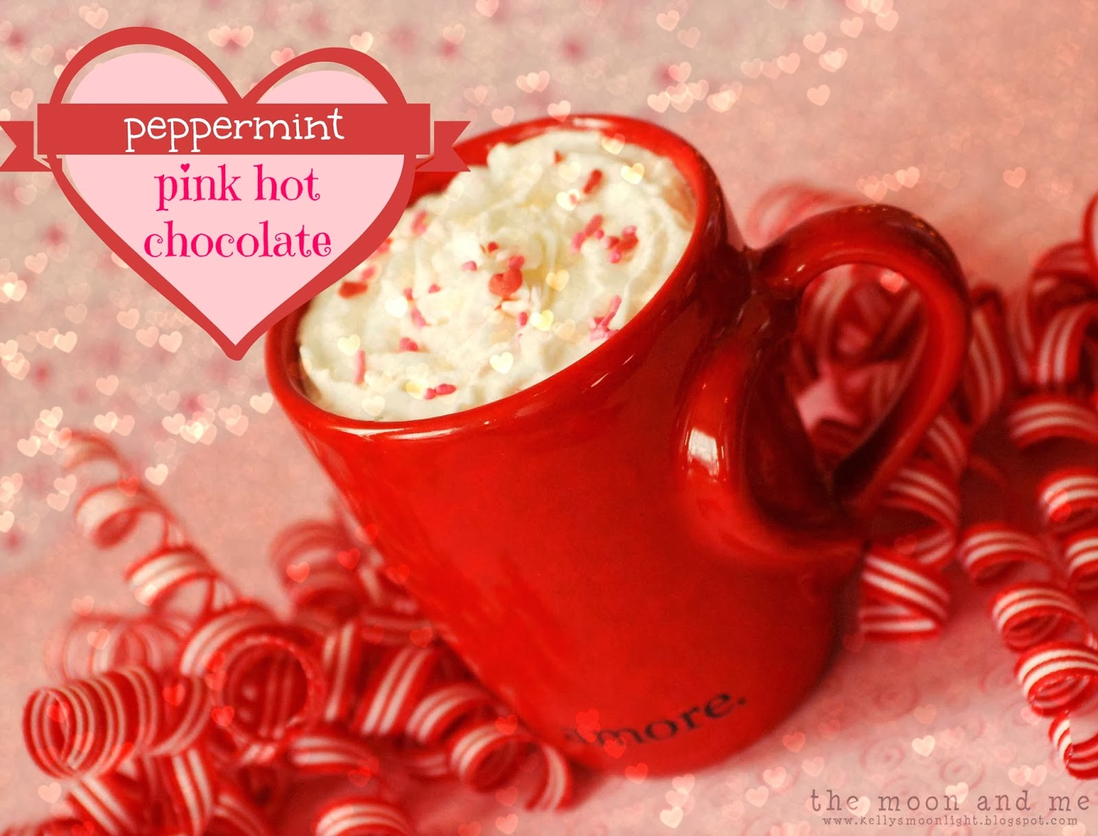 Peppermint Pink Hot Chocolate by The Moon and Me