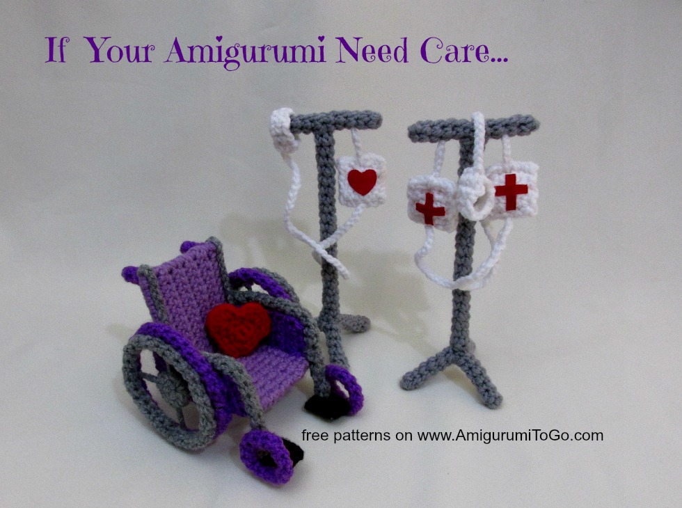 Amigurumi To Go Free Patterns : Crochet IV Drip Pole ~ Amigurumi To Go
