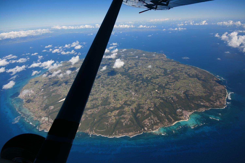 Parachutisme sur les les for Table vue de haut