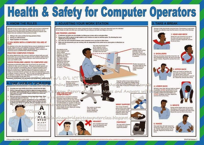 health and safety when using a computer essay Essay writing guide learn the art we will discuss the health and safety aspects of the use of ict in that gangways remain clear when the computer is in use.