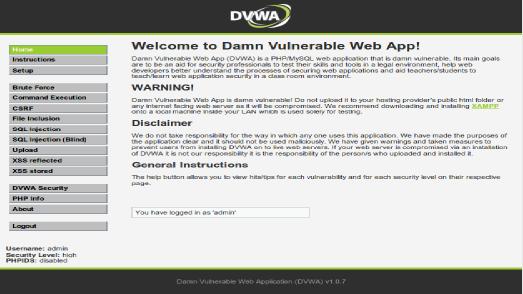 Damn Vulnerable Web App - PHP/MySQL Training Web Application that is Damn Vulnerable