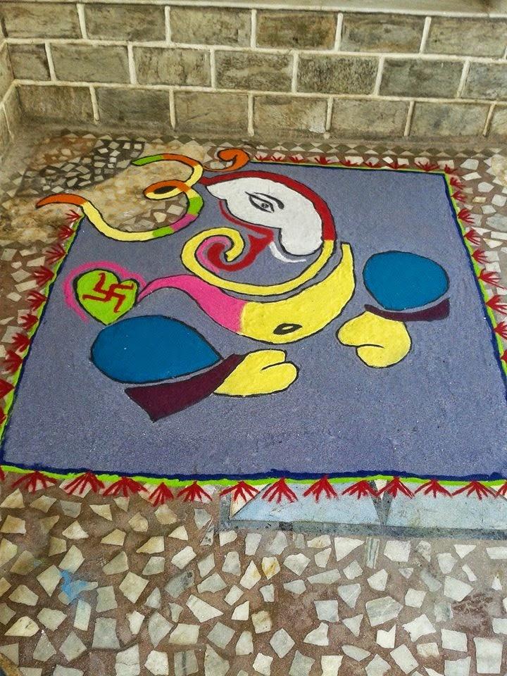 Ganesha Rangoli 10