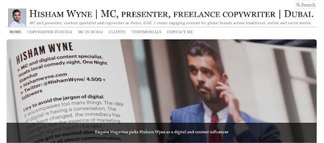 leading copywriter and MC in Dubai