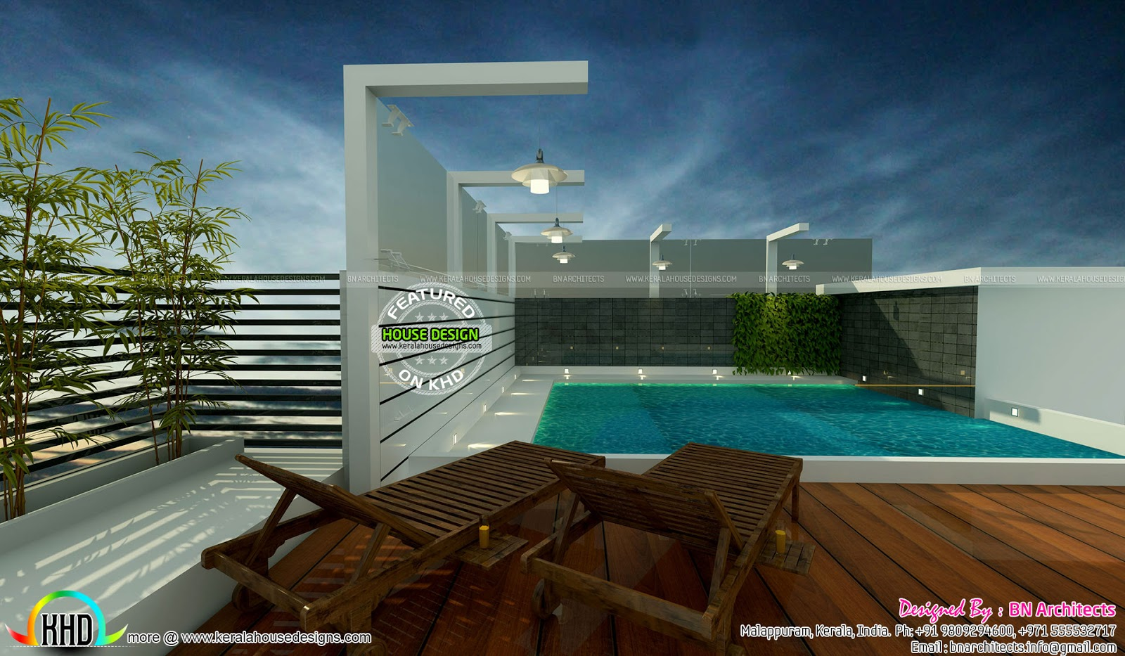 Kerala home design and floor plans awesome interior views for Pool design in kerala
