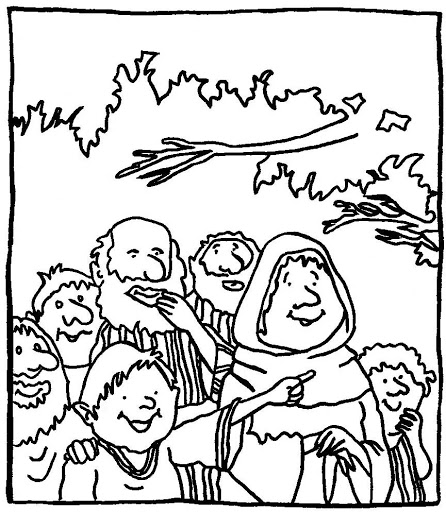 zaqueo coloring pages - photo #13
