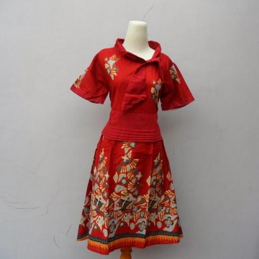 7 Foto model baju batik dress terbaru