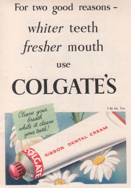 colgate toothpaste a brief history The colgate-palmolive company is history 1922 advertisement colgate lost its number one place in the toothpaste market when p&g added fluoride to its.