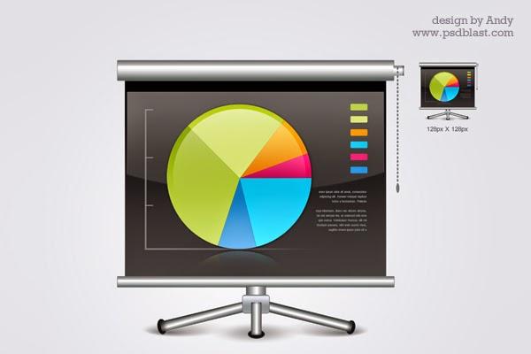 Business Graph Board Icon PSD