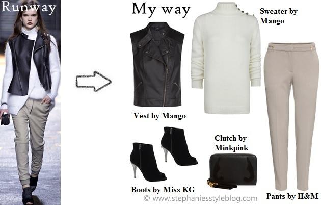 3.1 phillip lim, copy the runway, leather vest