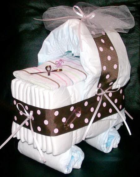 Adornos para baby shower con pañales - Imagui