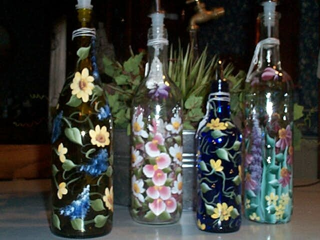 How to how to paint on wine bottles for Painting of a wine bottle