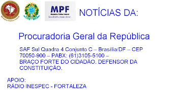 NOTÍCIAS DO MPF - MINISTÉRIO PÚBLICO FEDERAL