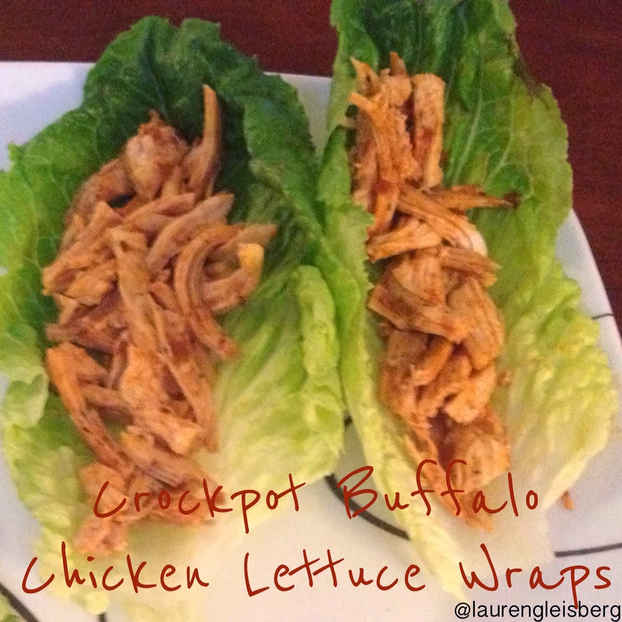 Crock Pot Buffalo Chicken Lettuce Wraps Recipe — Dishmaps