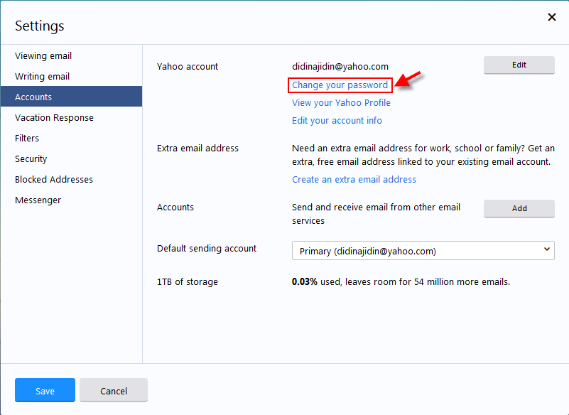 how to change password yahoo mail video