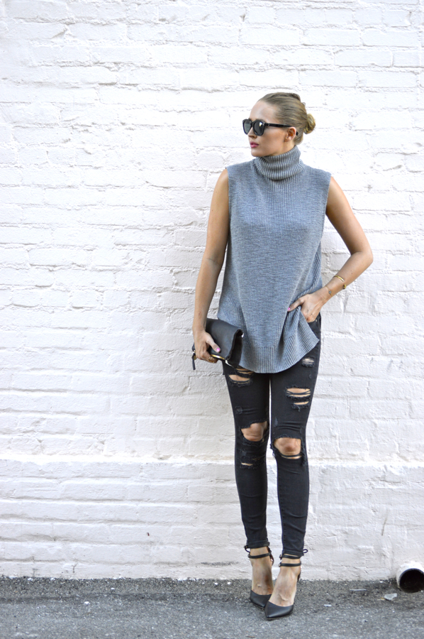 Paige Denim Edgemont Jeans- Michael Stars Sweater Turtlenec Tunic- Los Angeles Fashion Blogger- Ashley Murphy- LA Fashion Blogger