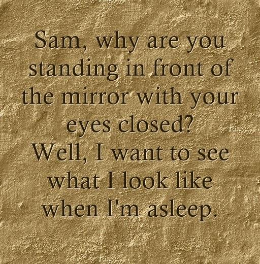 Nhắm mắt soi gương