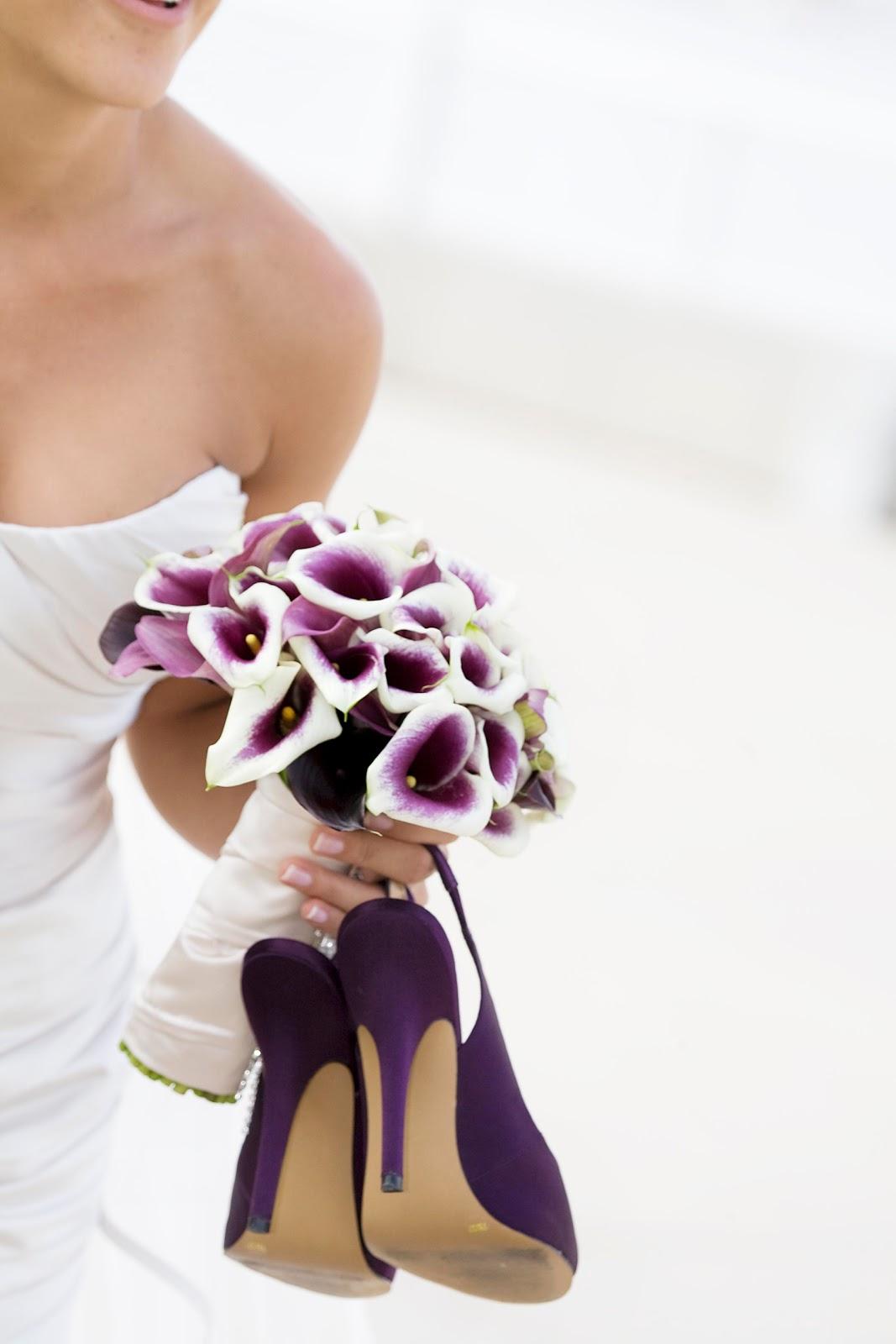 Wedding Flowers Lilies Purple San Diego, Coro...