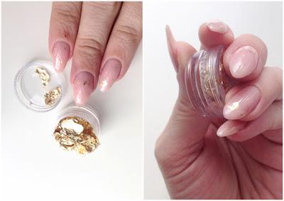 Born Pretty Store Gold Foil nail art manicure how to flecks