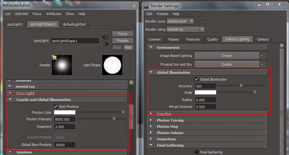 GI Render Setting in Maya 08