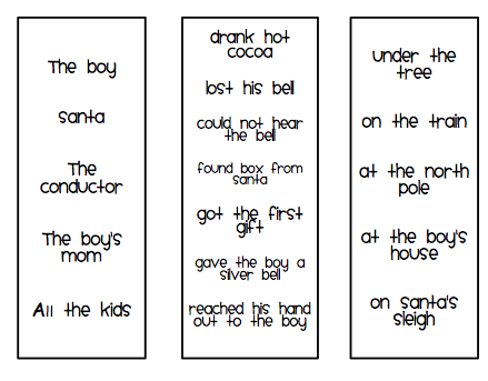 Verbs: Several sentences about events in the book with the verb ...