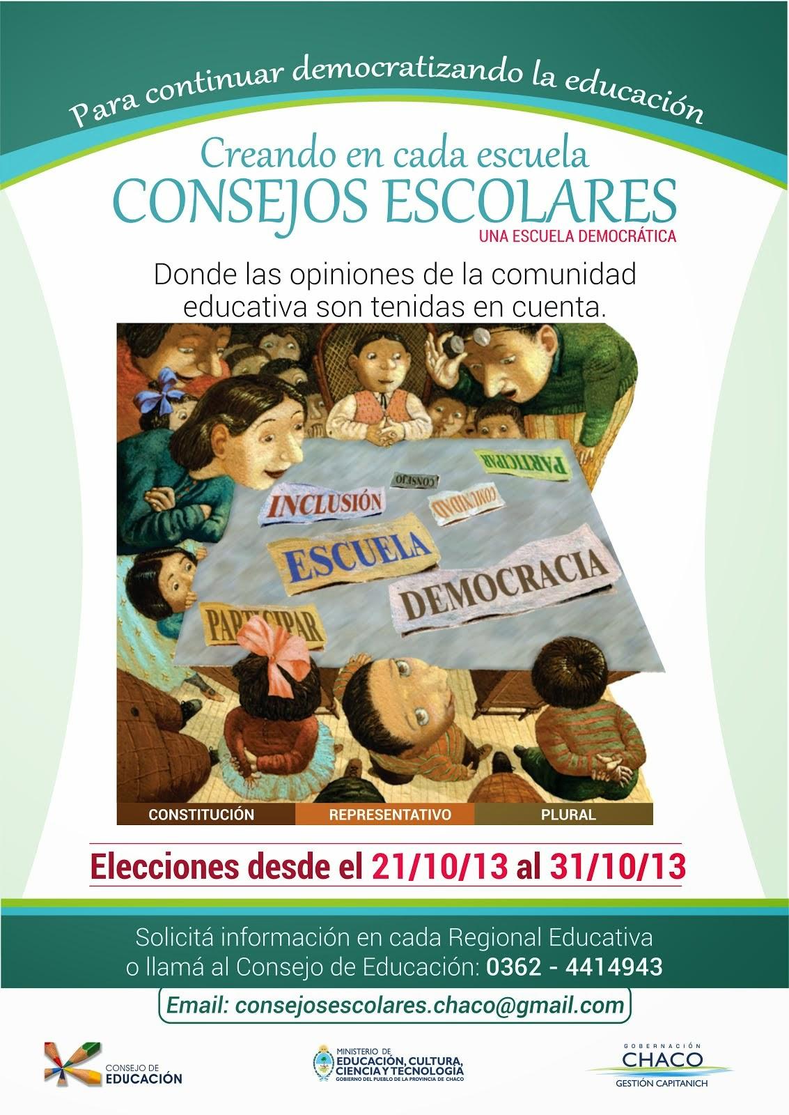 Afiche Consejos Escolares