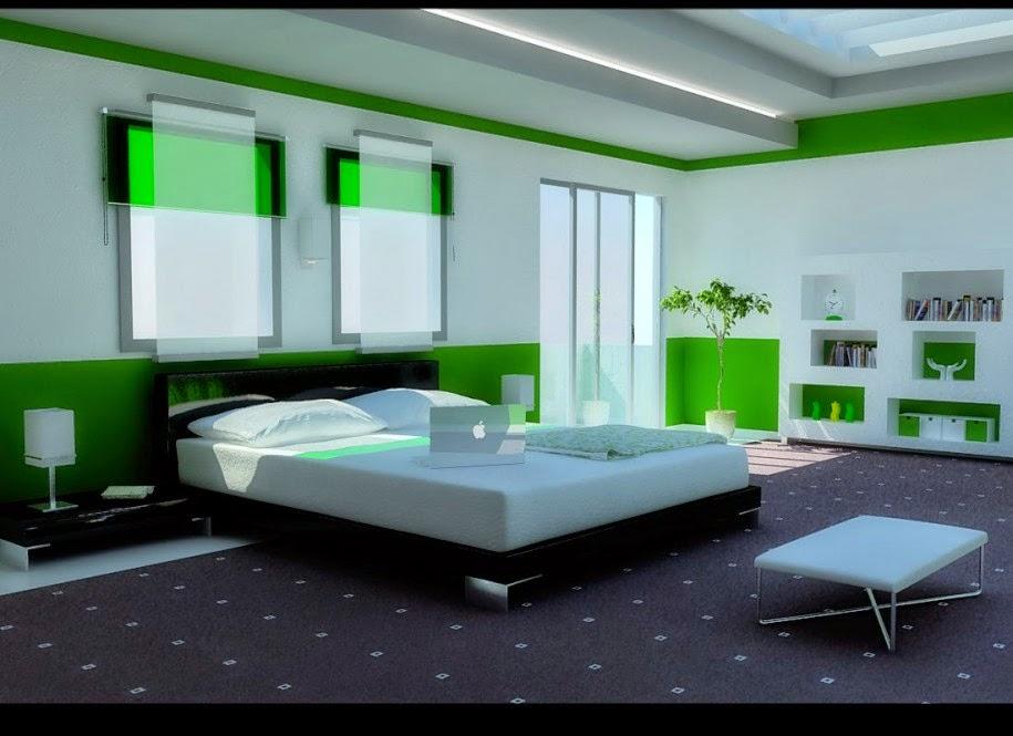 warna cat kamar tidur minimalis terbaik terbaru 2017