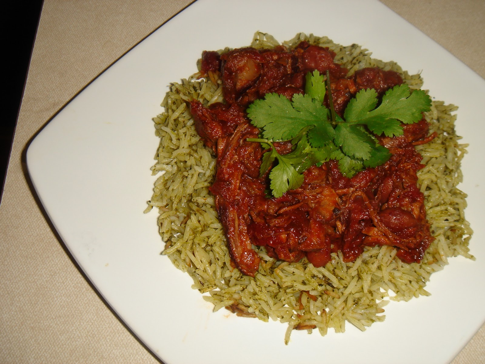 ... world: Chile con carne II (Chilli con Carne) with Mexican green rice